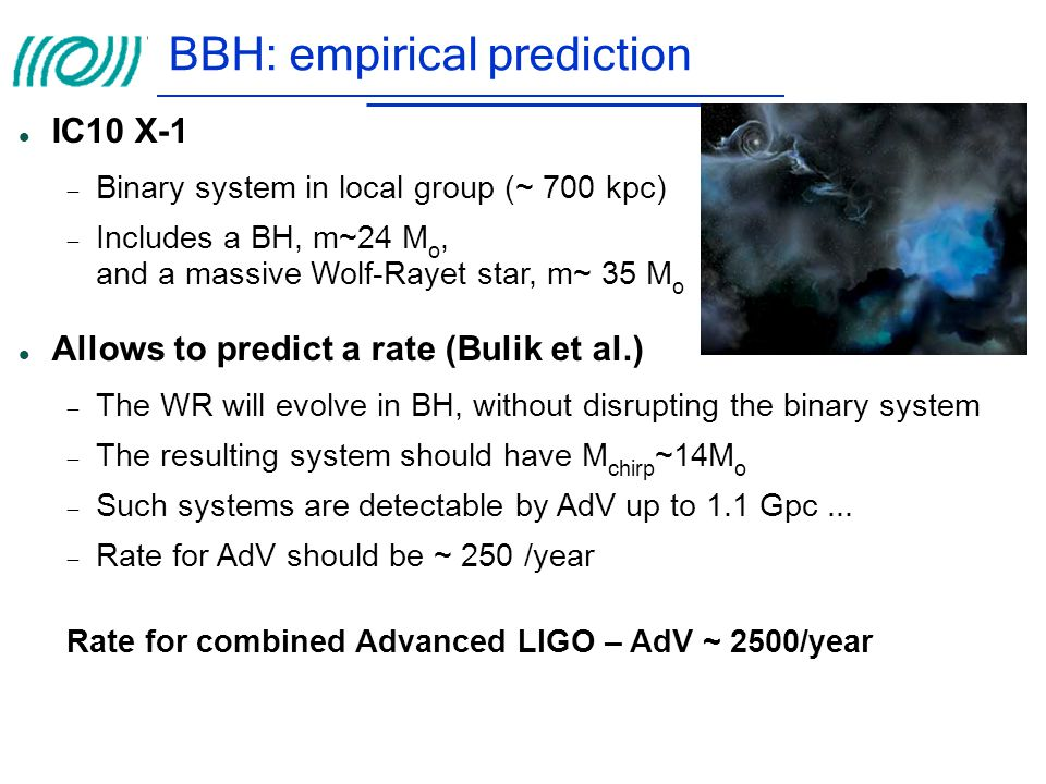 BBH: empirical prediction