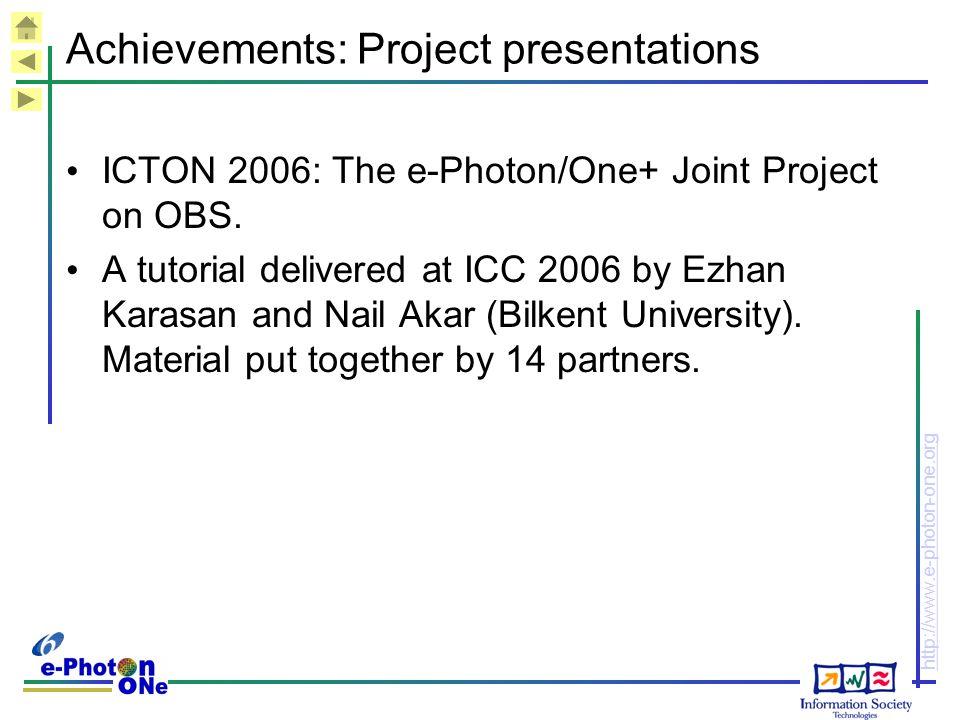Achievements: Project presentations