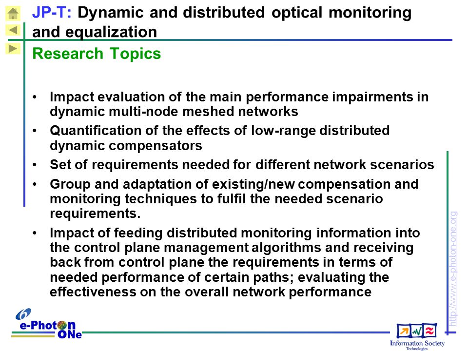 JP-T: Dynamic and distributed optical monitoring and equalization