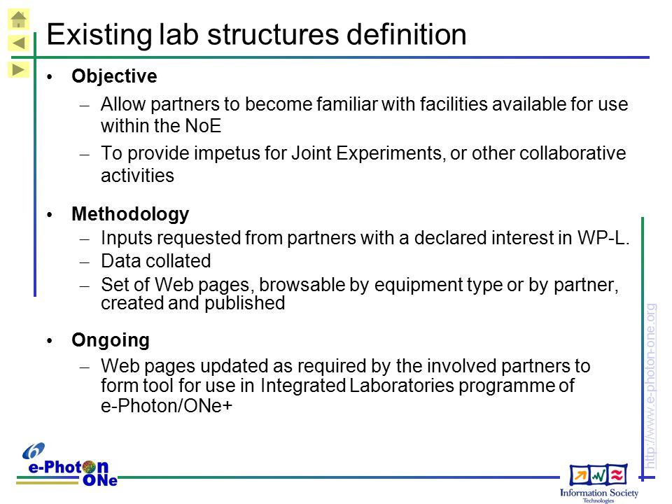 Existing lab structures definition