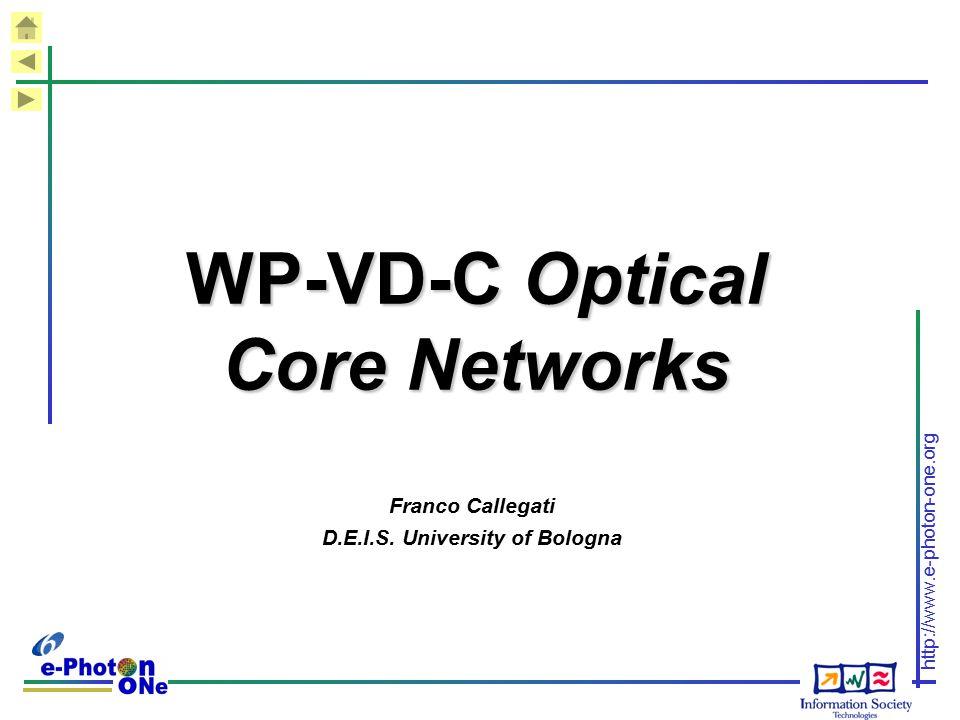 WP-VD-C Optical Core Networks