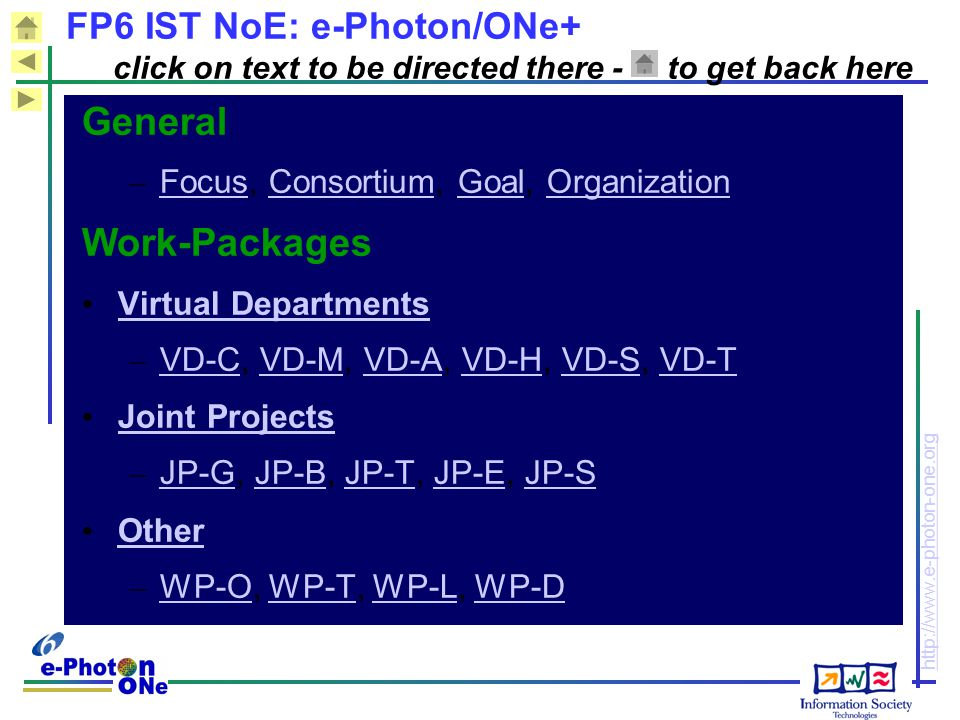 General Work-Packages