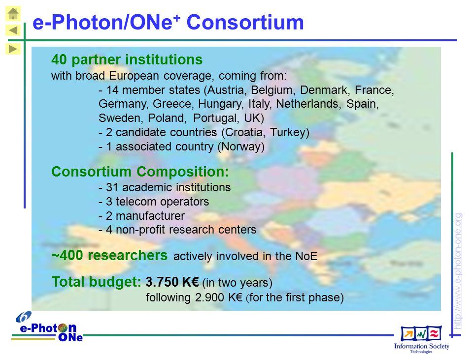 e-Photon/ONe+ Consortium