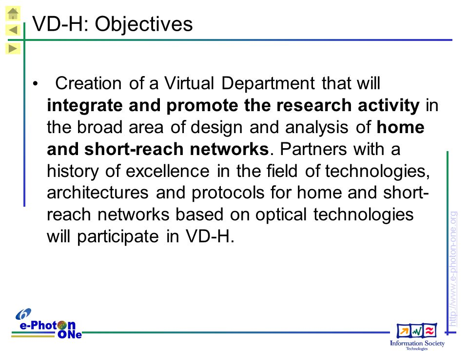 VD-H: Objectives