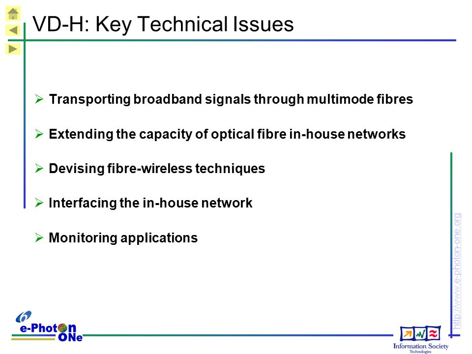 VD-H: Key Technical Issues