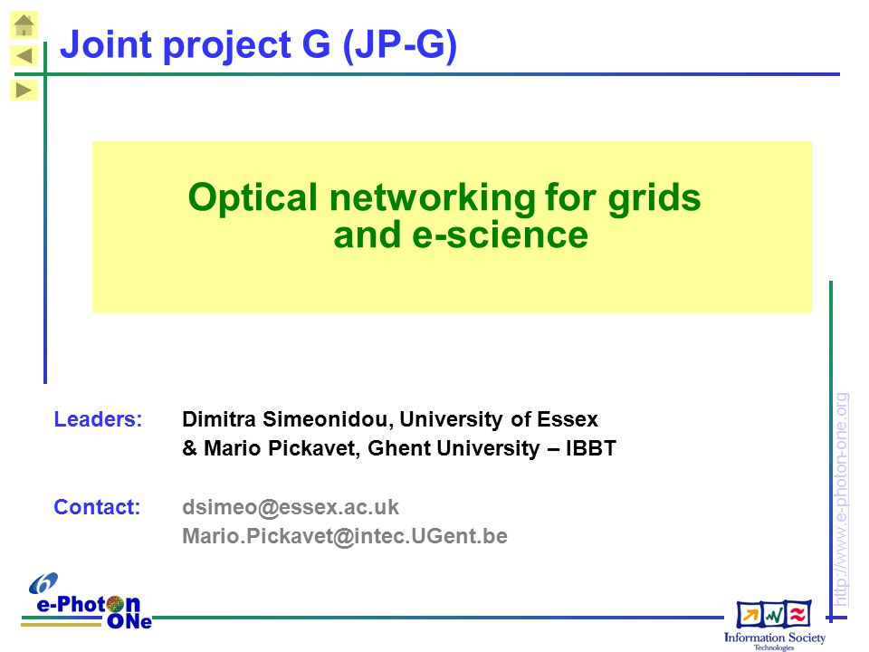 Optical networking for grids and e-science