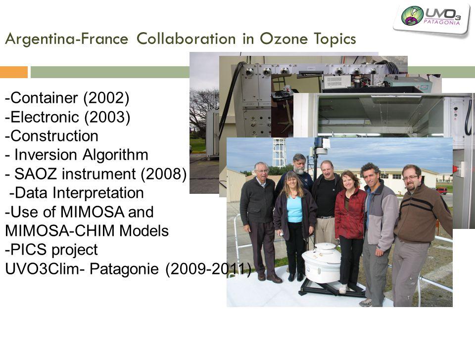 Argentina-France Collaboration in Ozone Topics