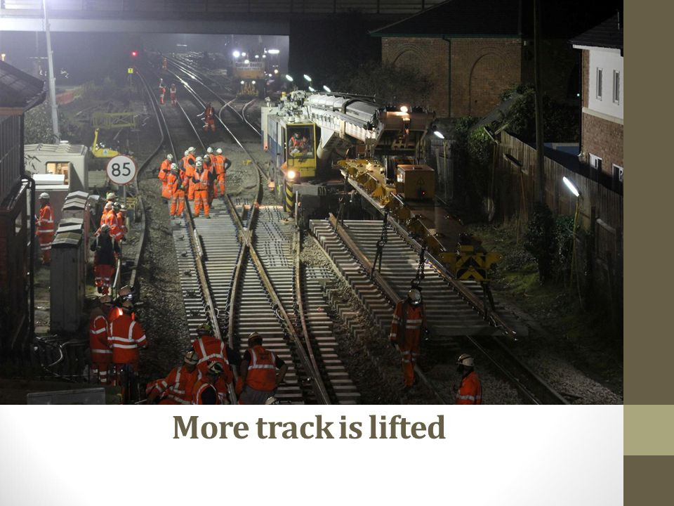 More track is lifted