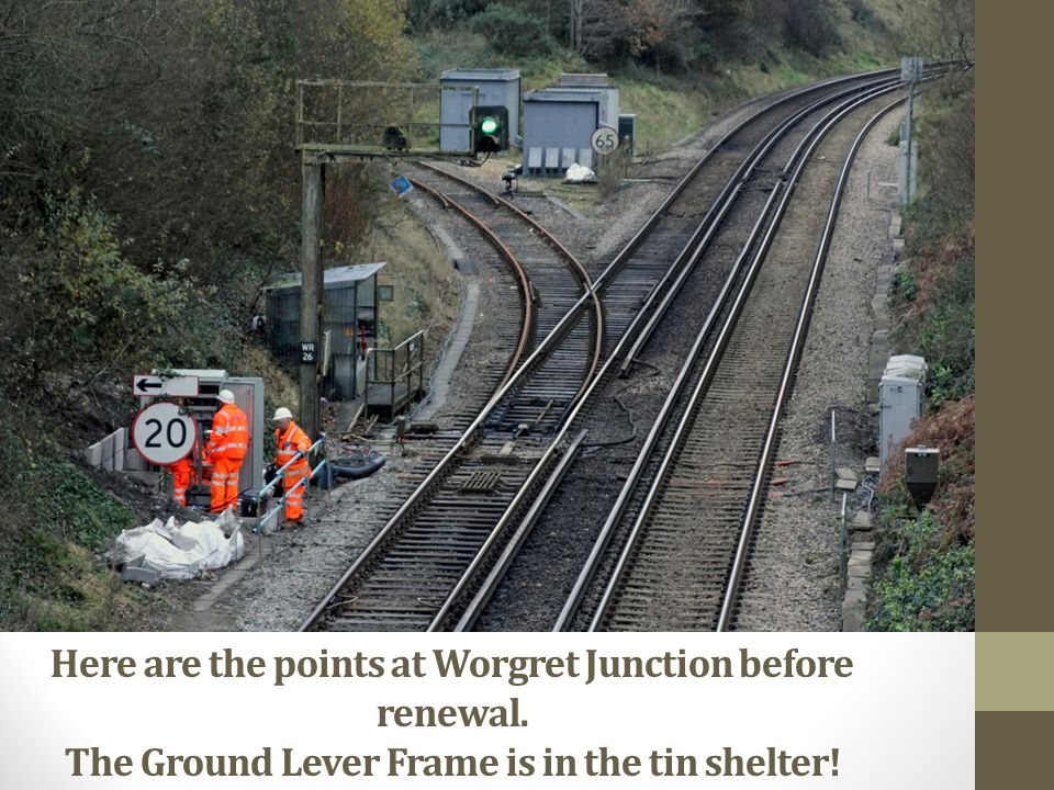 Here are the points at Worgret Junction before renewal