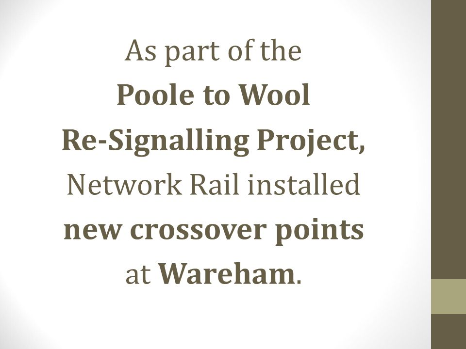 Re-Signalling Project,