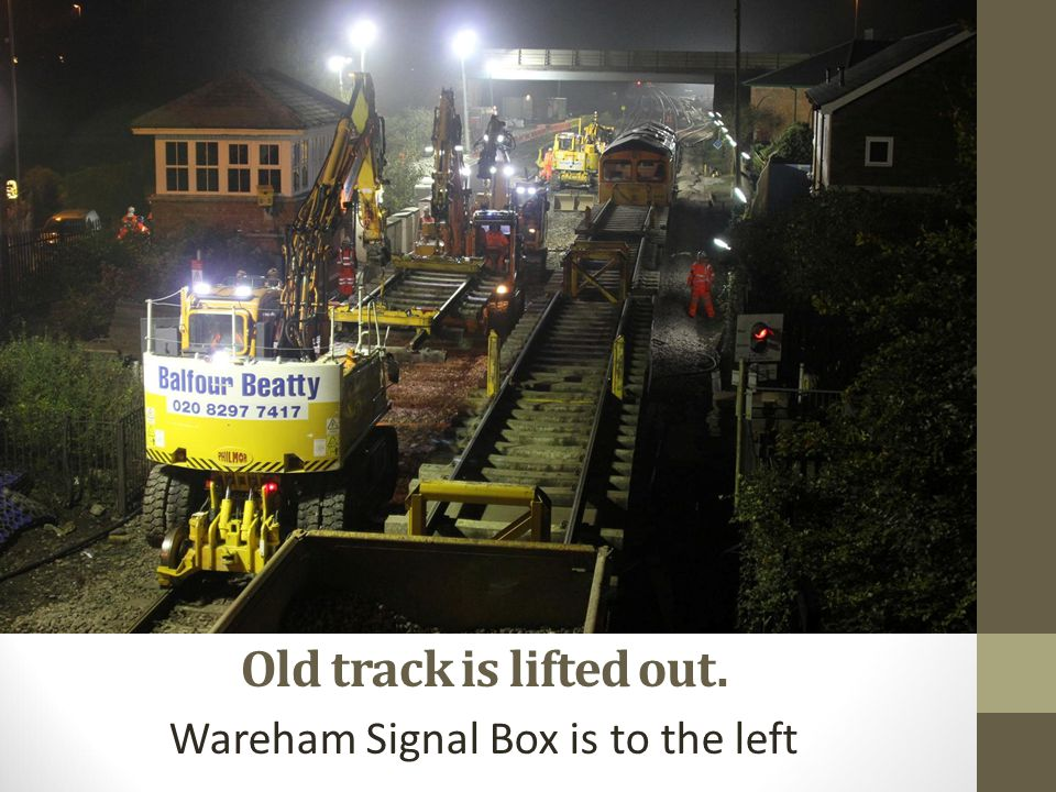 Wareham Signal Box is to the left