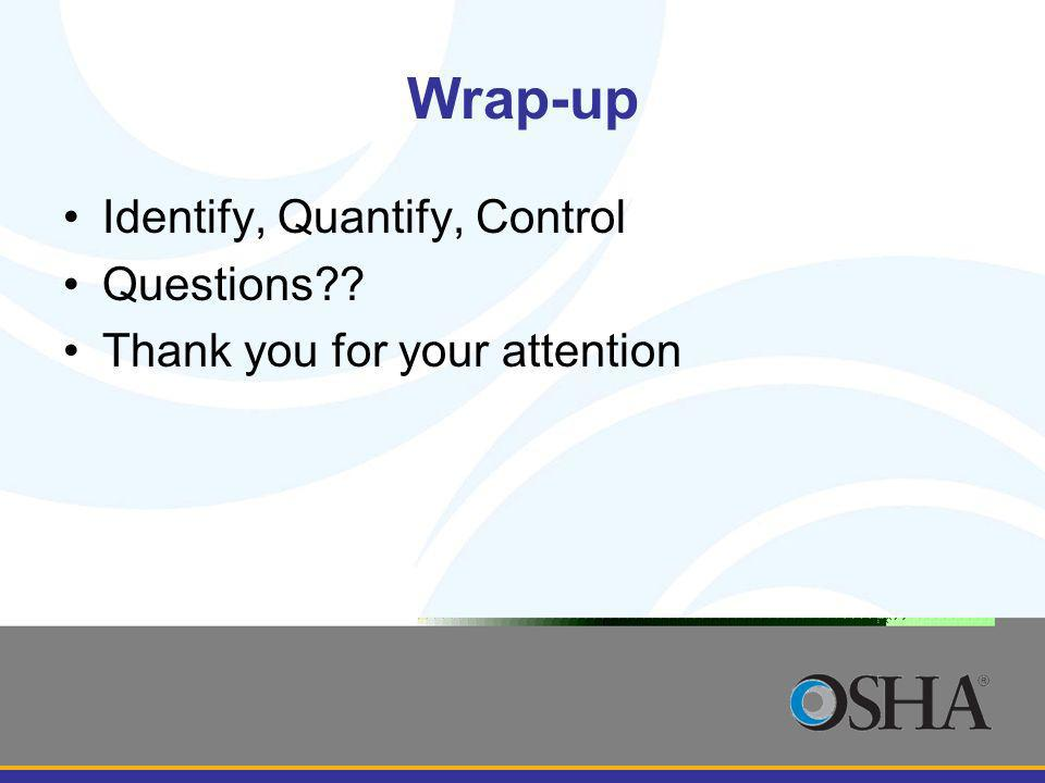 Wrap-up Identify, Quantify, Control Questions