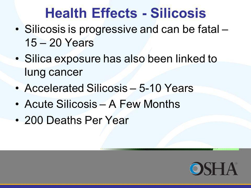 Health Effects - Silicosis
