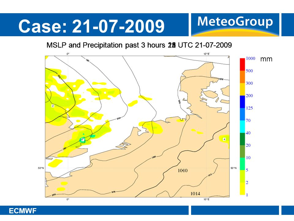 Case: 21-07-2009 MSLP and Precipitation past 3 hours 18 UTC 21-07-2009