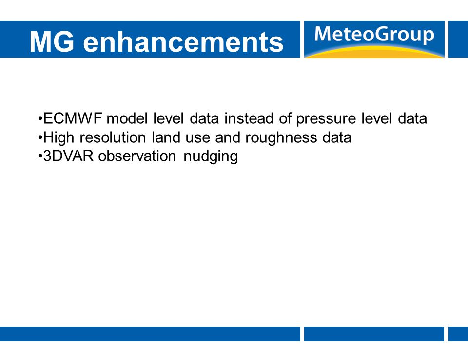 MG enhancements ECMWF model level data instead of pressure level data
