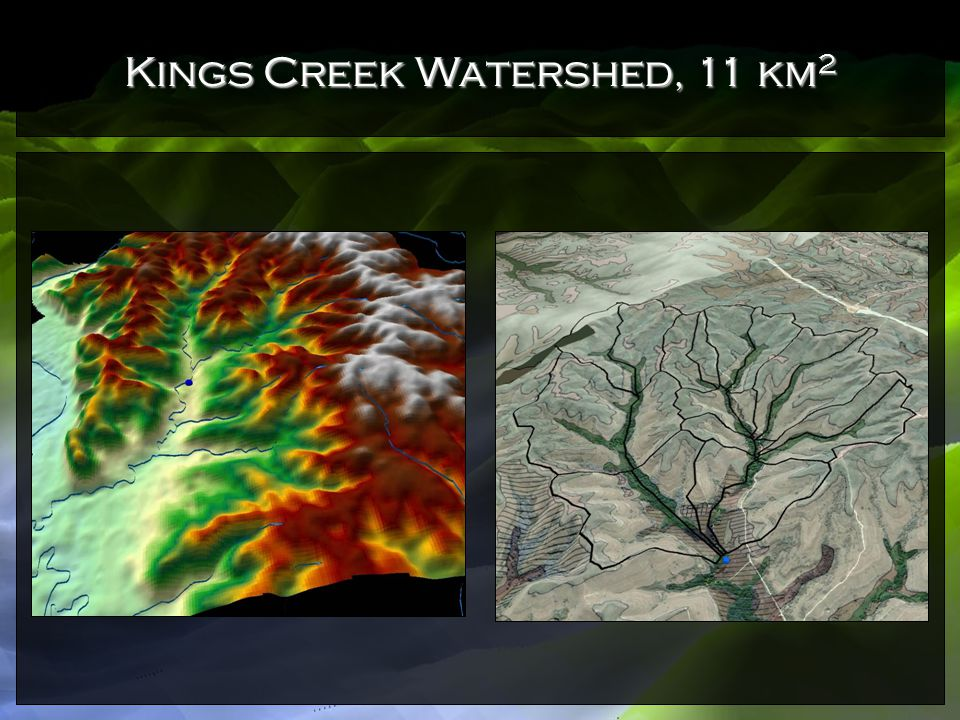 Kings Creek Watershed, 11 km2