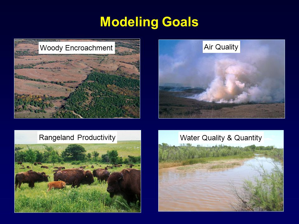 Modeling Goals Air Quality Woody Encroachment Rangeland Productivity