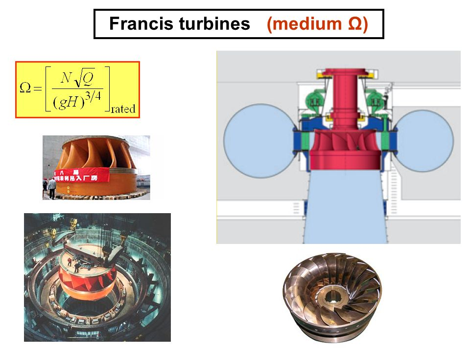 Francis turbines (medium Ω)