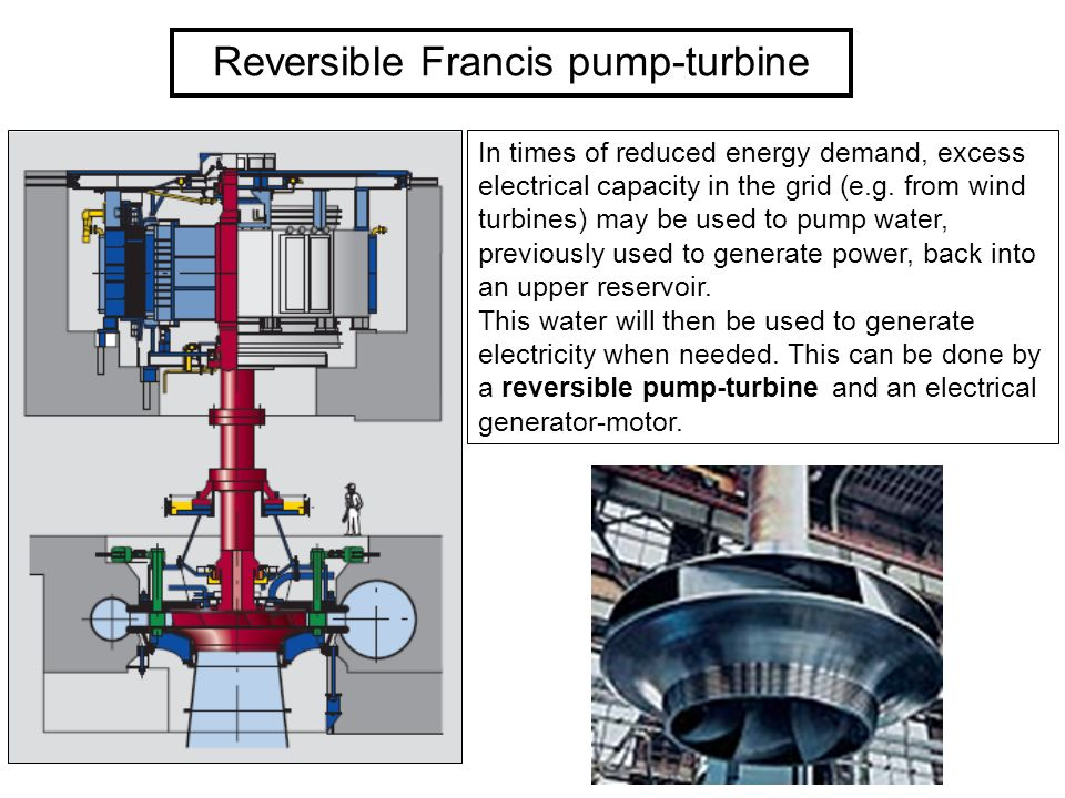 Reversible Francis pump-turbine
