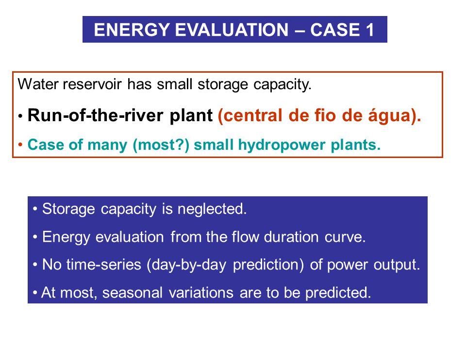 ENERGY EVALUATION – CASE 1