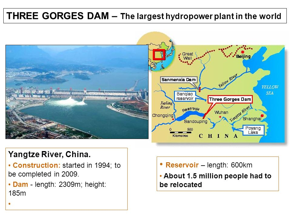 THREE GORGES DAM – The largest hydropower plant in the world
