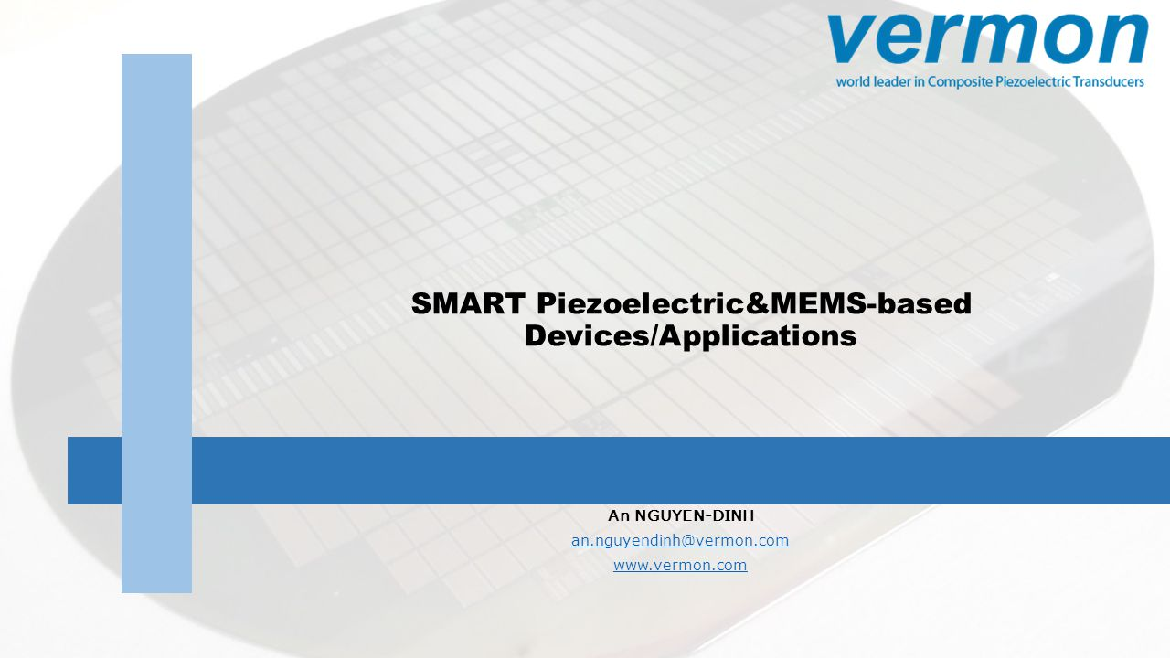 SMART Piezoelectric&MEMS-based Devices/Applications