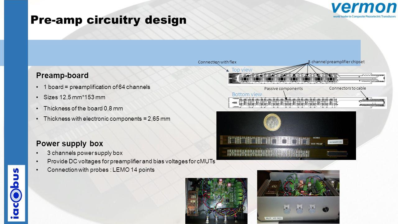 Pre-amp circuitry design