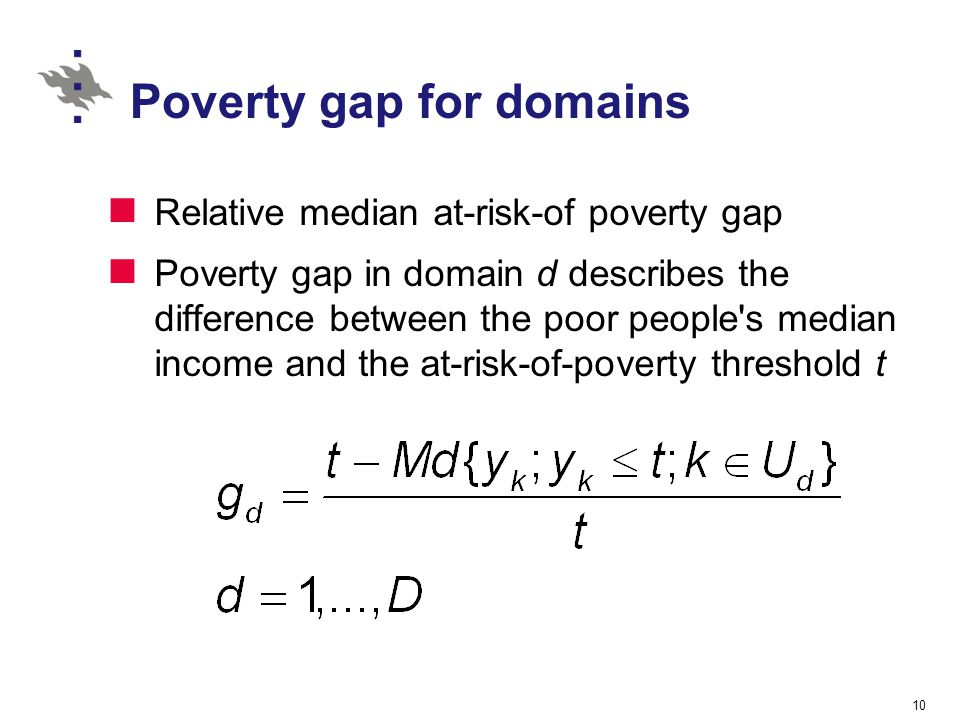 Poverty gap for domains