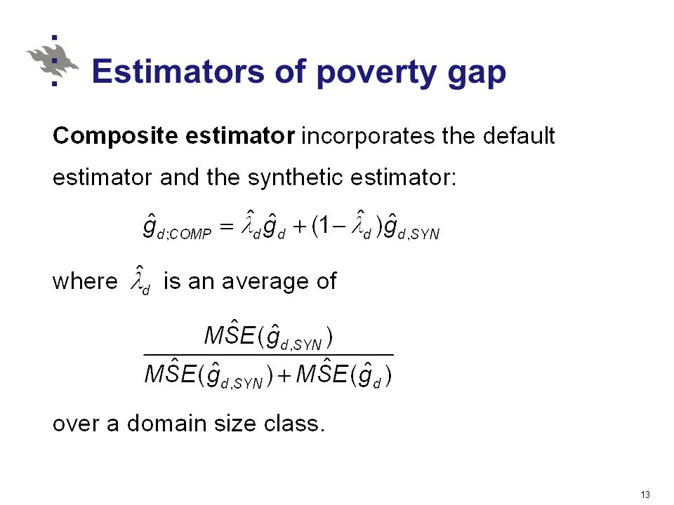 Estimators of poverty gap
