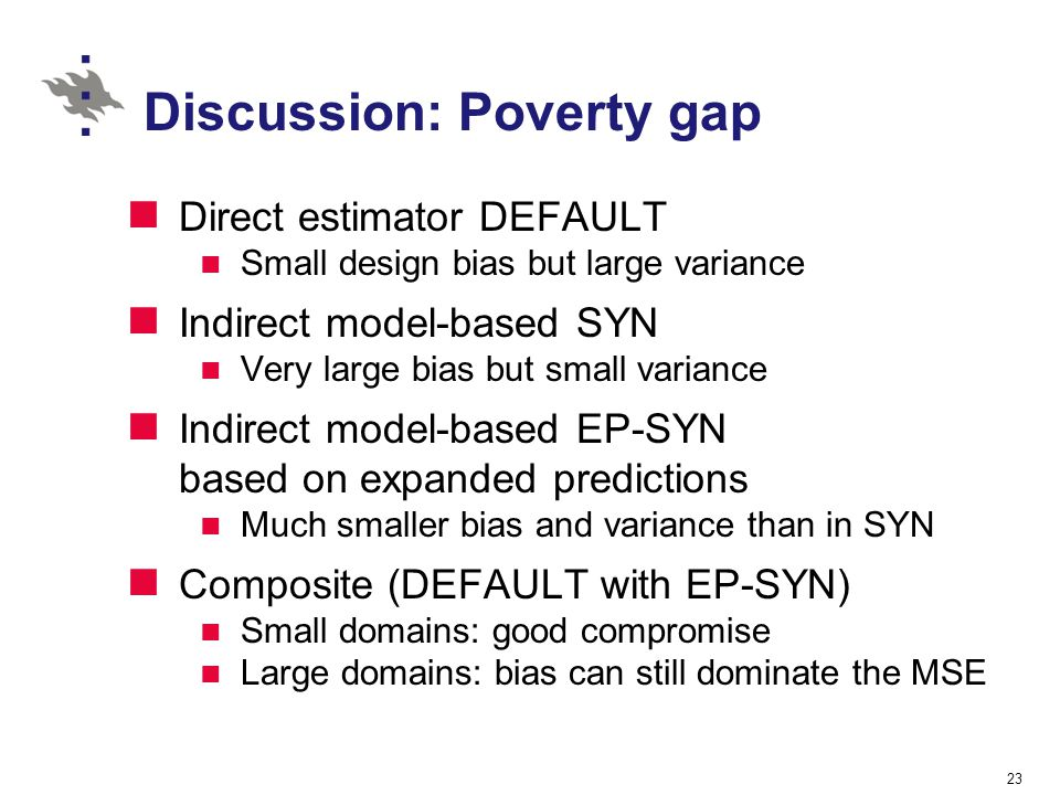 Discussion: Poverty gap