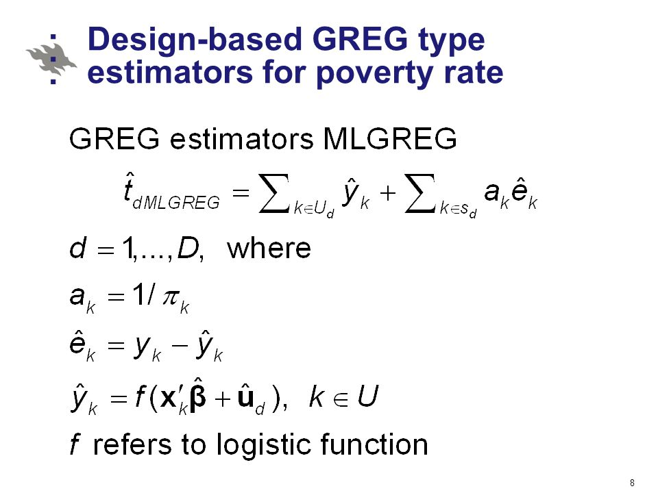 Design-based GREG type estimators for poverty rate