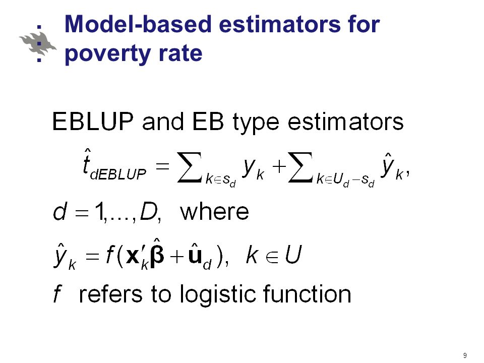 Model-based estimators for poverty rate
