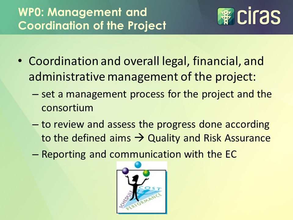 WP0: Management and Coordination of the Project