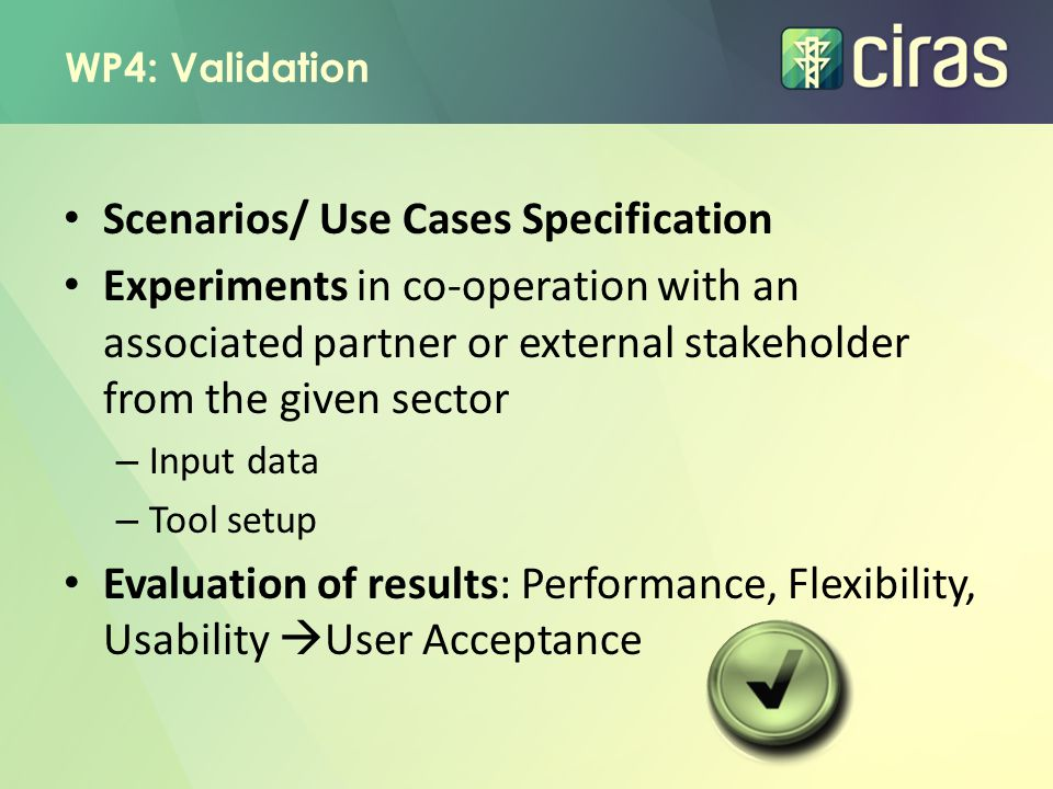 Scenarios/ Use Cases Specification