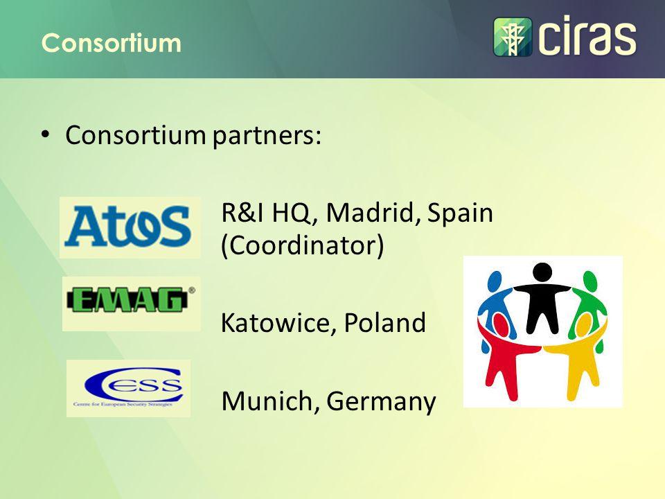 R&I HQ, Madrid, Spain (Coordinator)