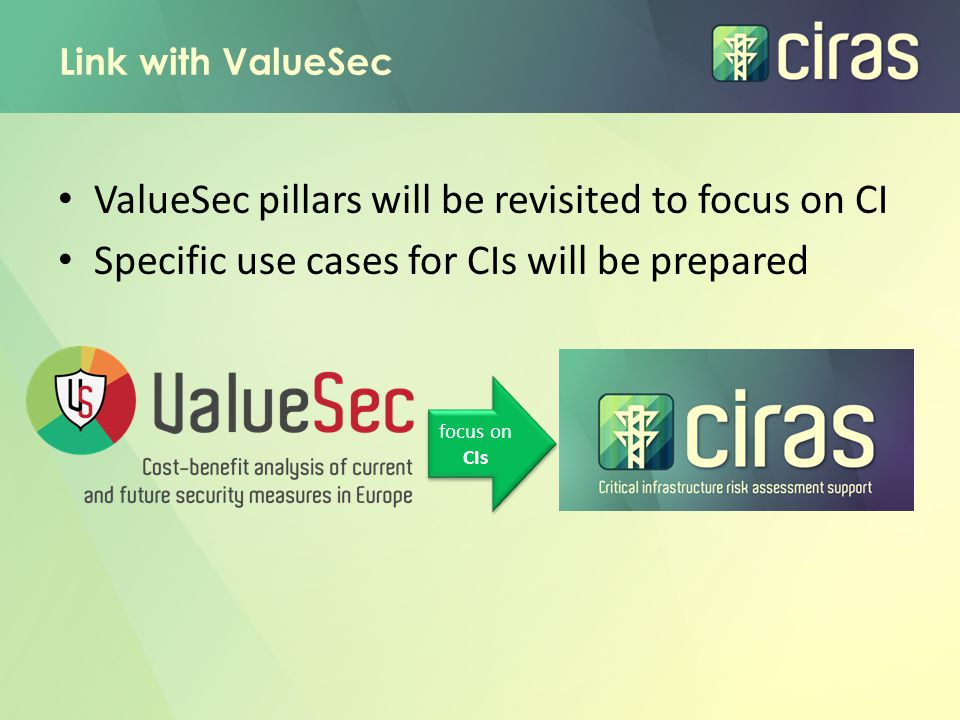 ValueSec pillars will be revisited to focus on CI