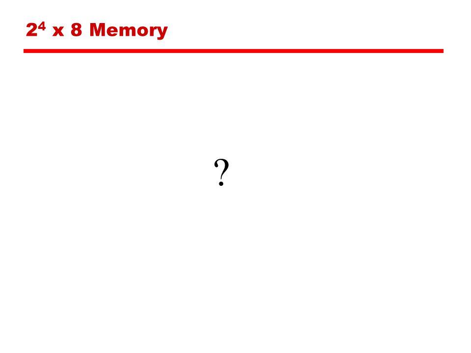 24 x 8 Memory