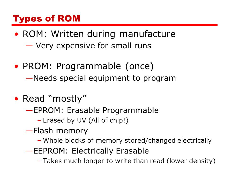 ROM: Written during manufacture