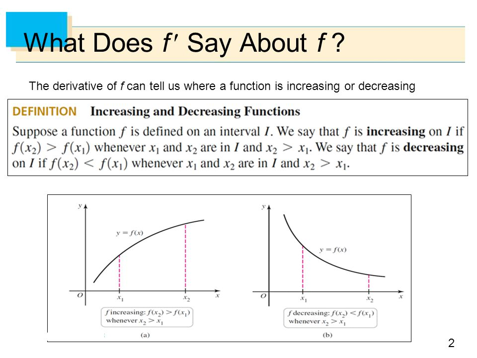 What Does f  Say About f .