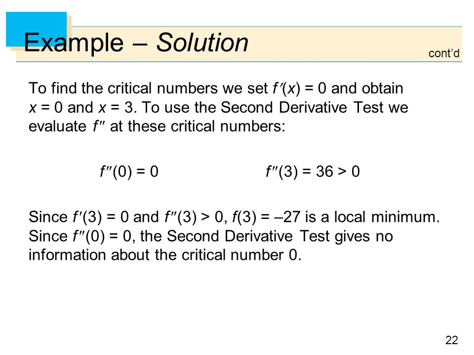 Example – Solution cont'd.