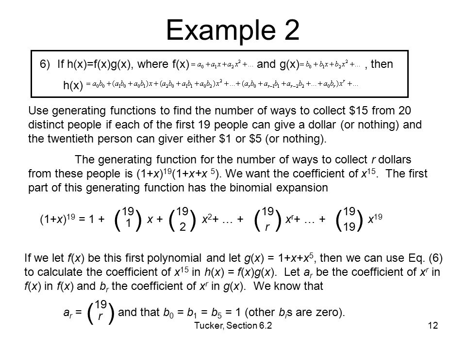 Example 2 ( ) ( ) If h(x)=f(x)g(x), where f(x) and g(x) , then h(x)
