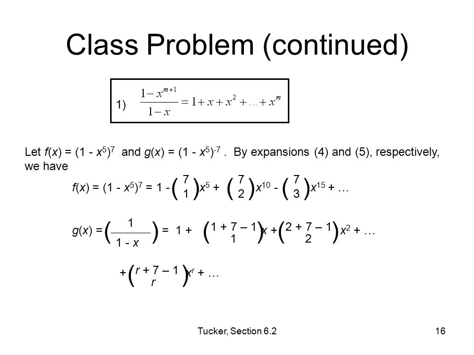 Class Problem (continued)