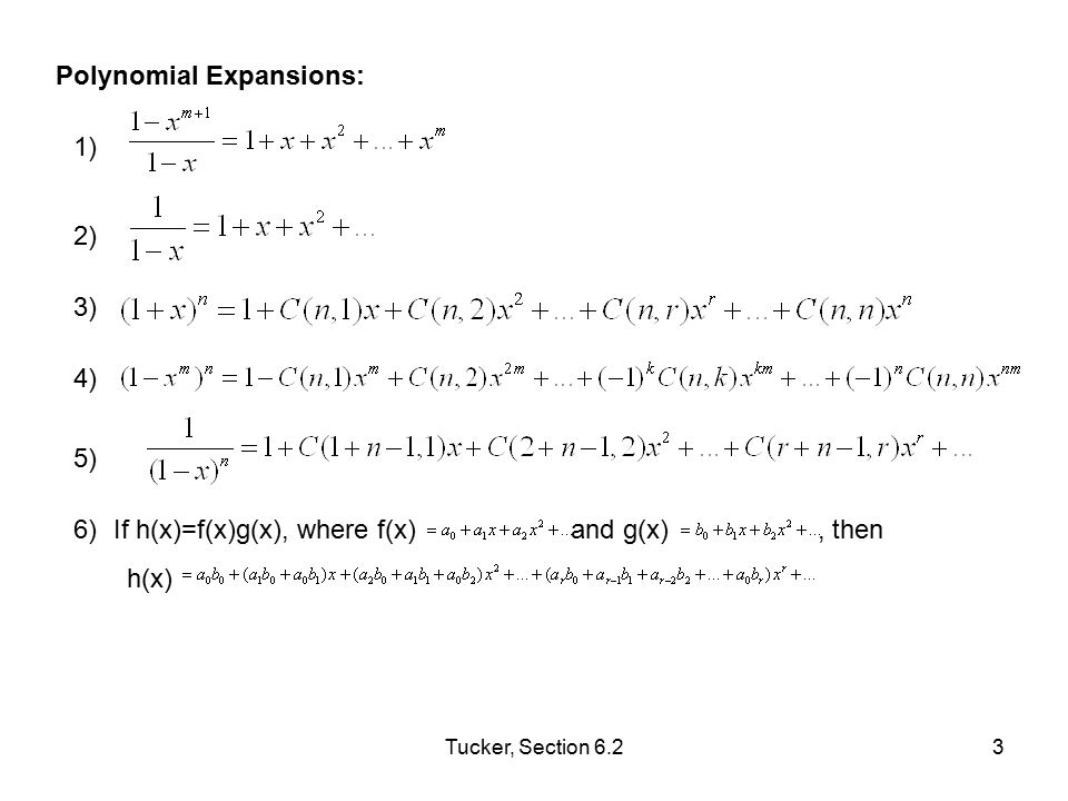 Polynomial Expansions: