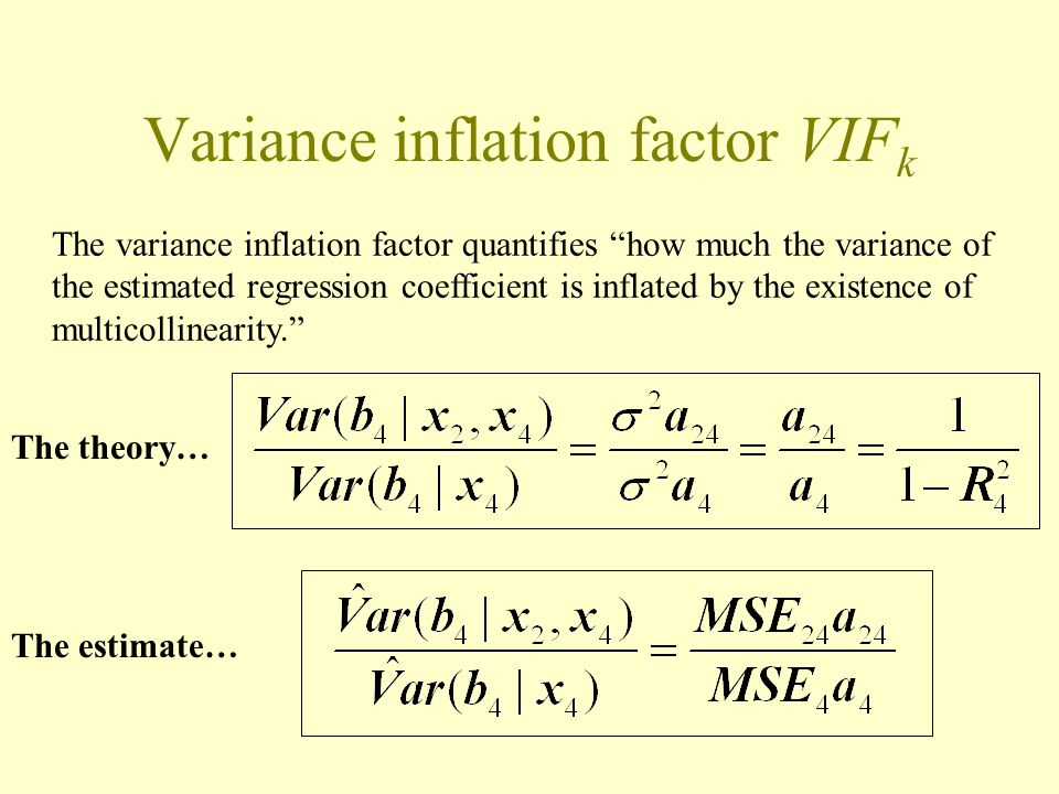 More on understanding variance inflation factors (VIFk ...