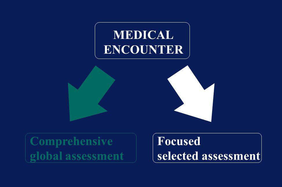 MEDICAL ENCOUNTER Comprehensive global assessment Focused selected assessment