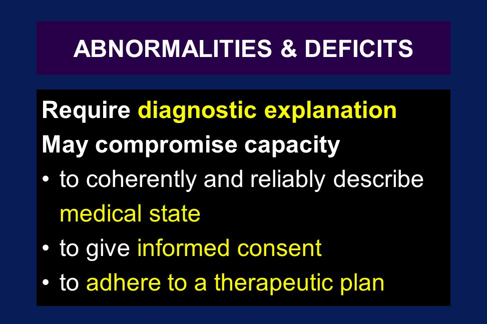 ABNORMALITIES & DEFICITS