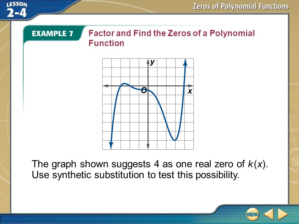 Factor and Find the Zeros of a Polynomial Function