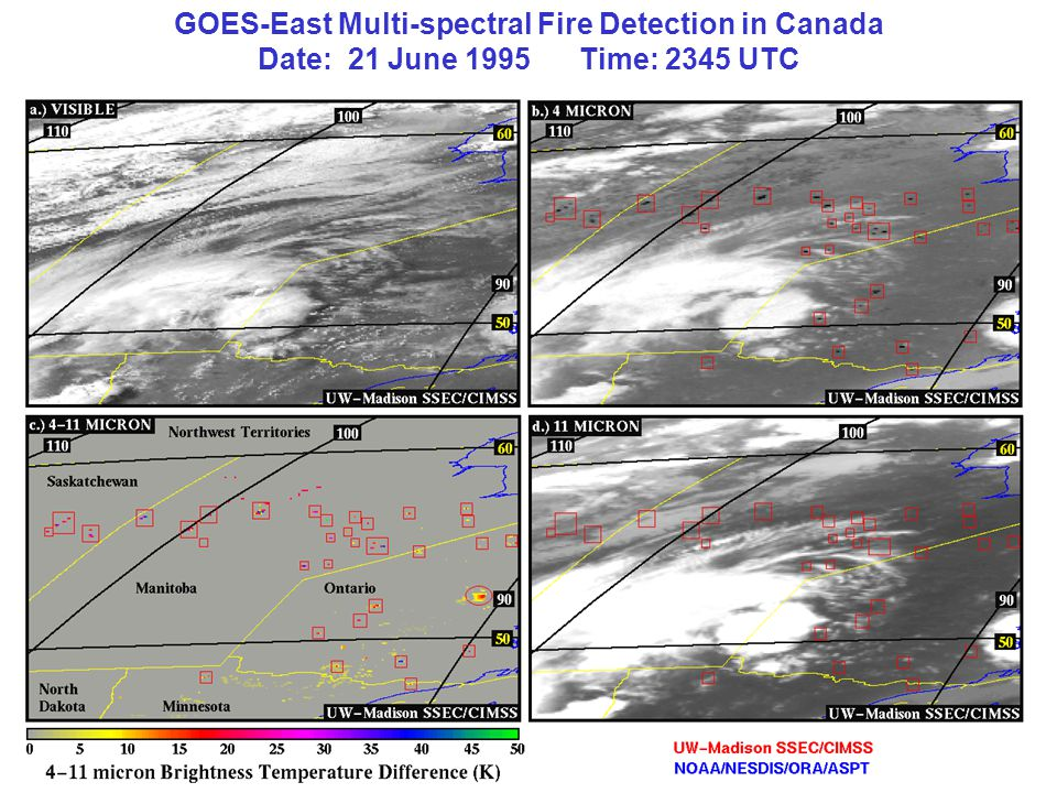 GOES-East Multi-spectral Fire Detection in Canada