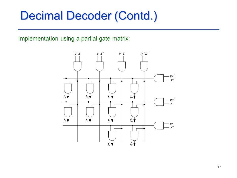Decimal Decoder (Contd.)
