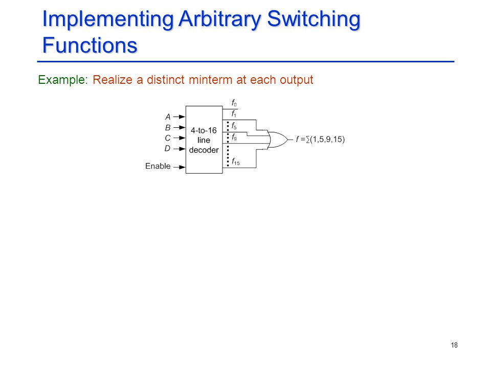 Implementing Arbitrary Switching Functions